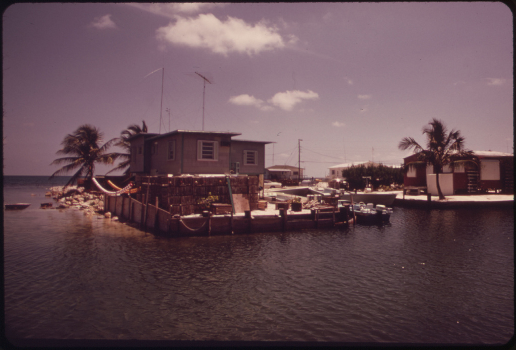 Cove at Conch Key, a Lobster Fishing Community. This Is One of the Smaller Islands of the Lower Florida Keys.