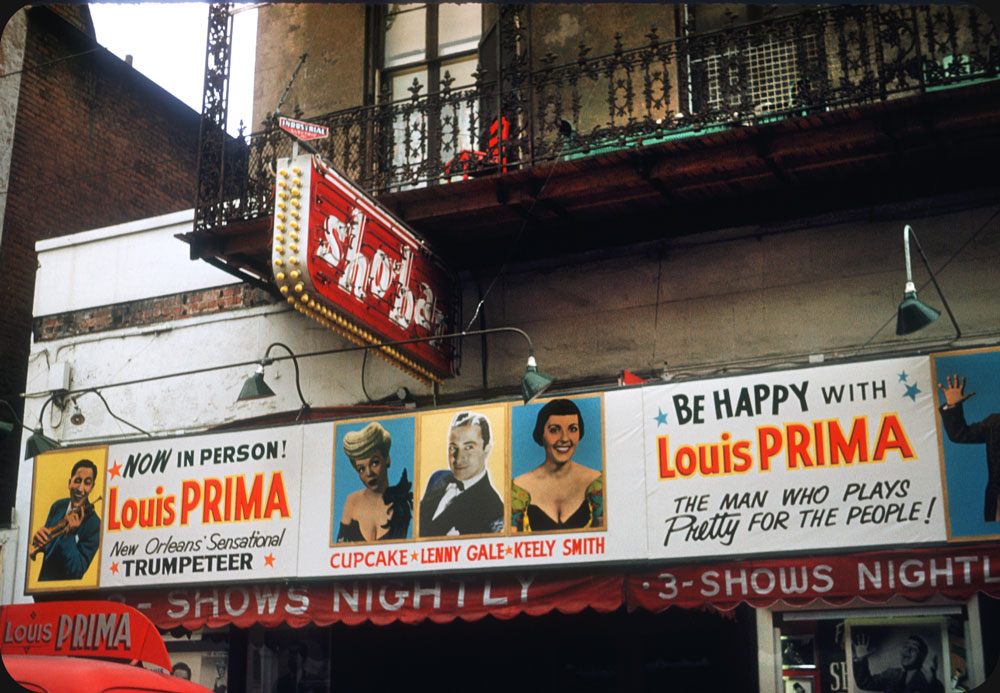 Louis Prima at Sho-Bar, New Orleans – 1953