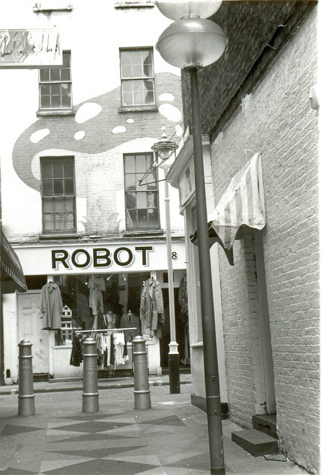ROBOT clothes shop in the Carnaby Street area of London in 1979.