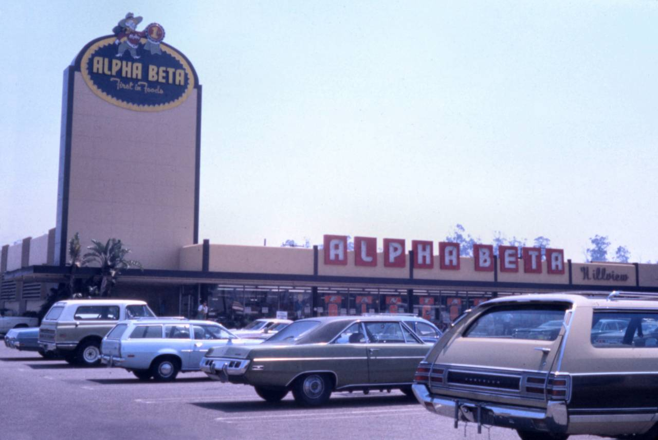 Alpha Beta, Tustin Ave., Santa Ana, 1974