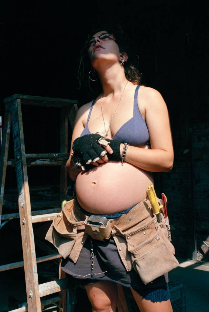 Famous, Pregnant and Building Windows, Seventh Street Squat, 1994