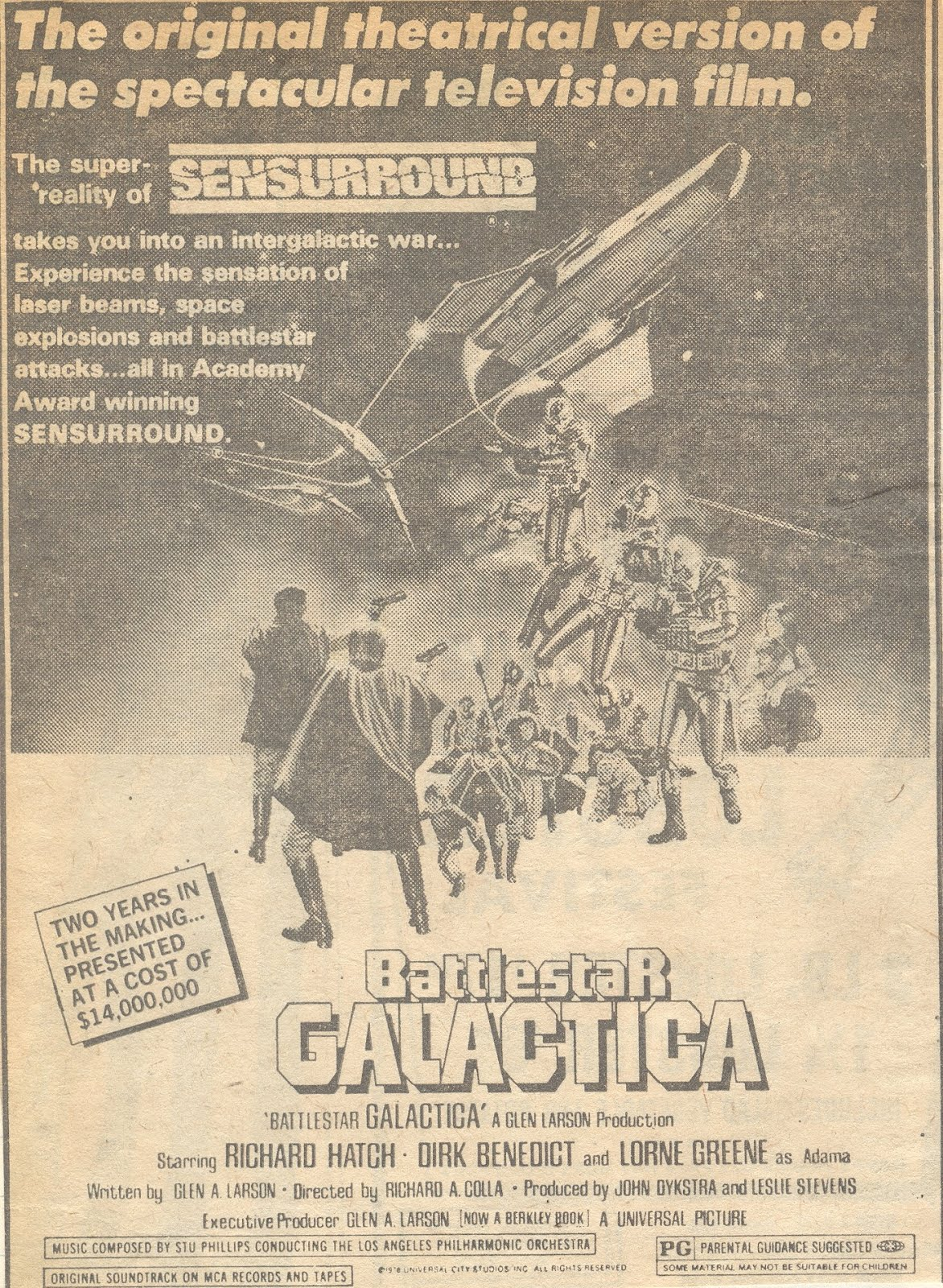 Battlestar Galactica newspaper ad