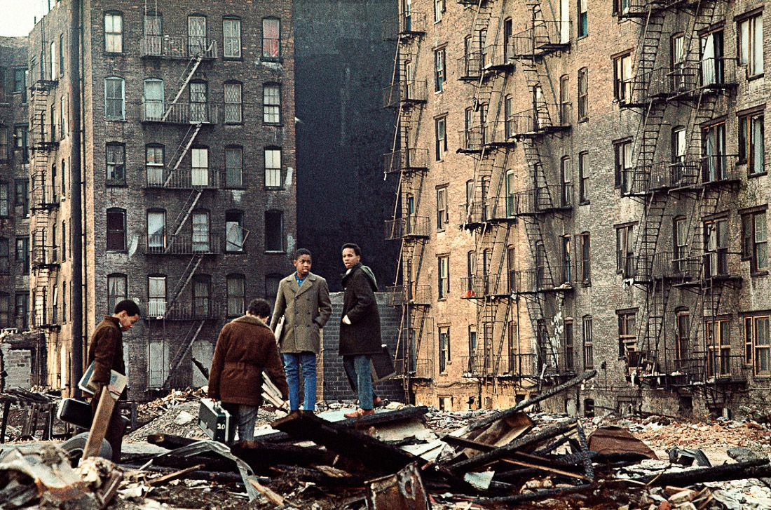 "1970 ""Fifth Ave at 110th Street, East Harlem."" IMAGE: CAMILO JOSÉ VERGARA/LIBRARY OF CONGRESS"