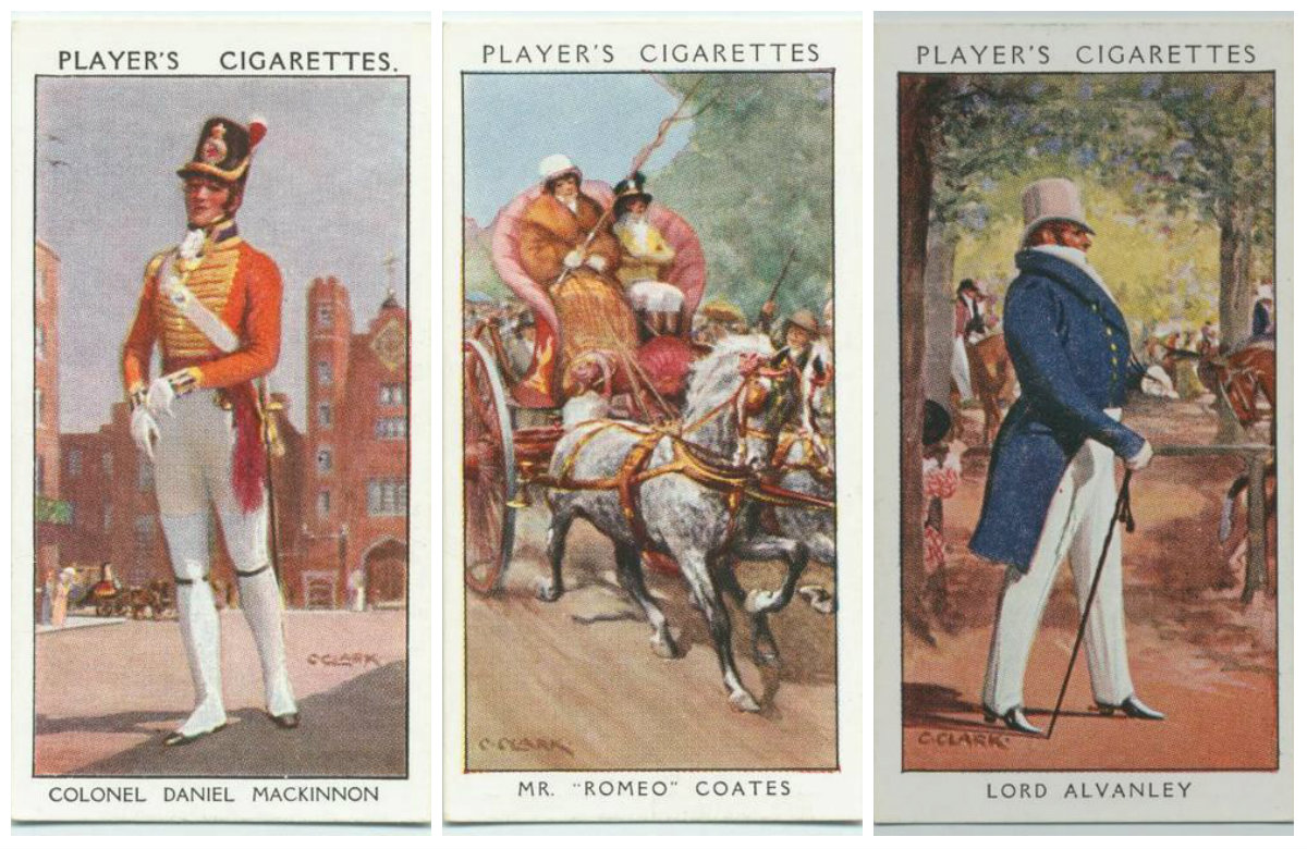 Historical Dandies John Player cigarette cards