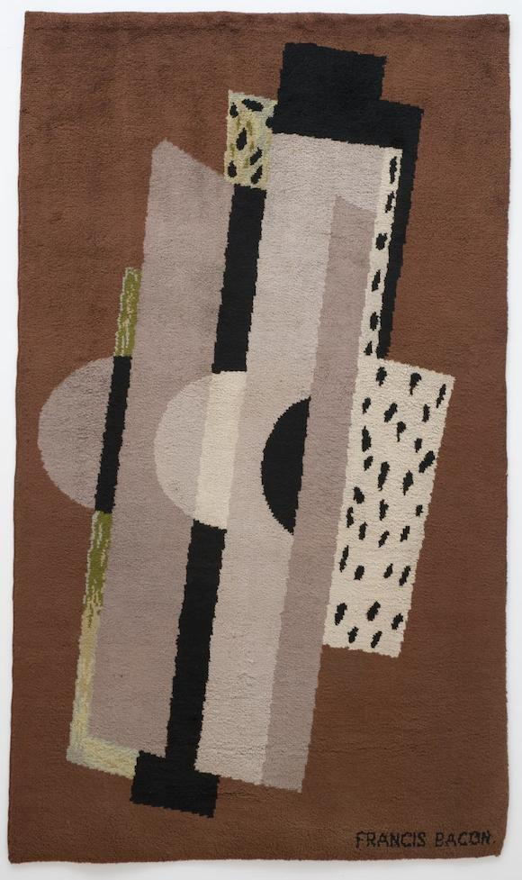 Rug c.1929 by Francis Bacon. 212 x 126 x 1.5cm. Private collection currently on loan to Tate Britain. © The Estate Of Francis Bacon