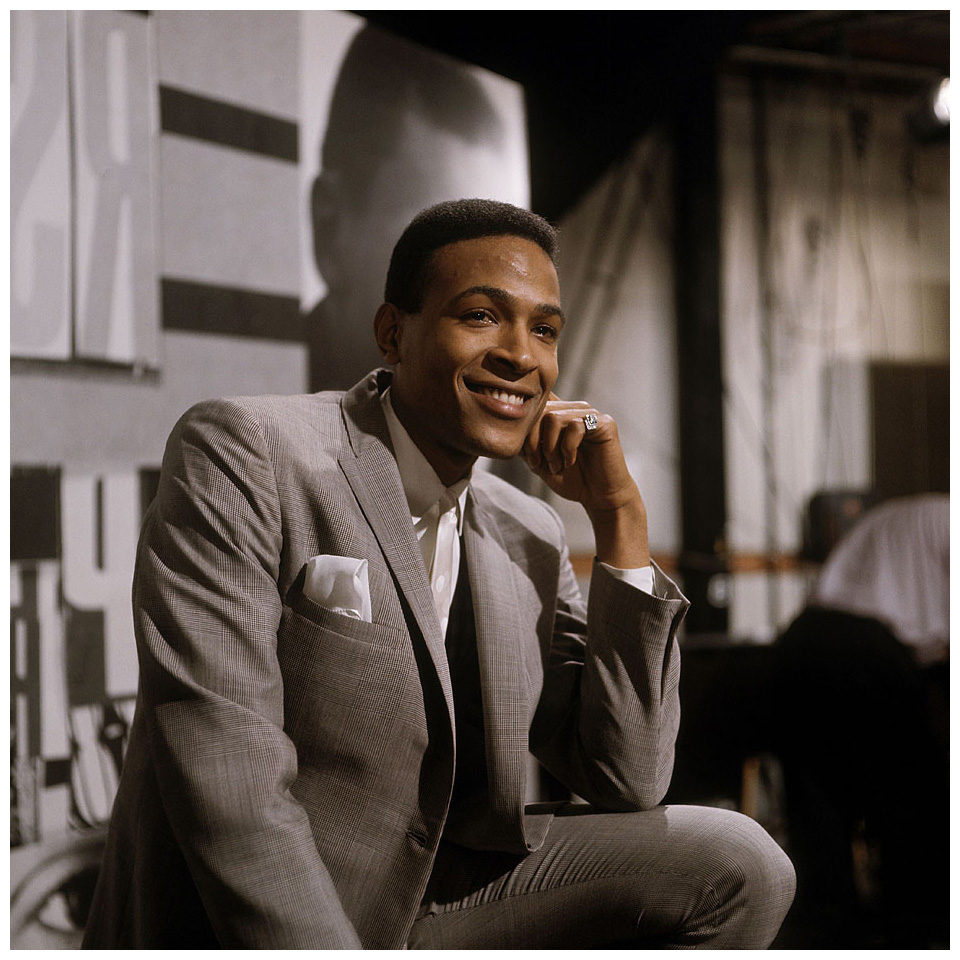 "Marvin Gaye ""READY STEADY GO"" Photo of Marvin GAYE, Posed at Television House, Kingsway 20 nov 1966"