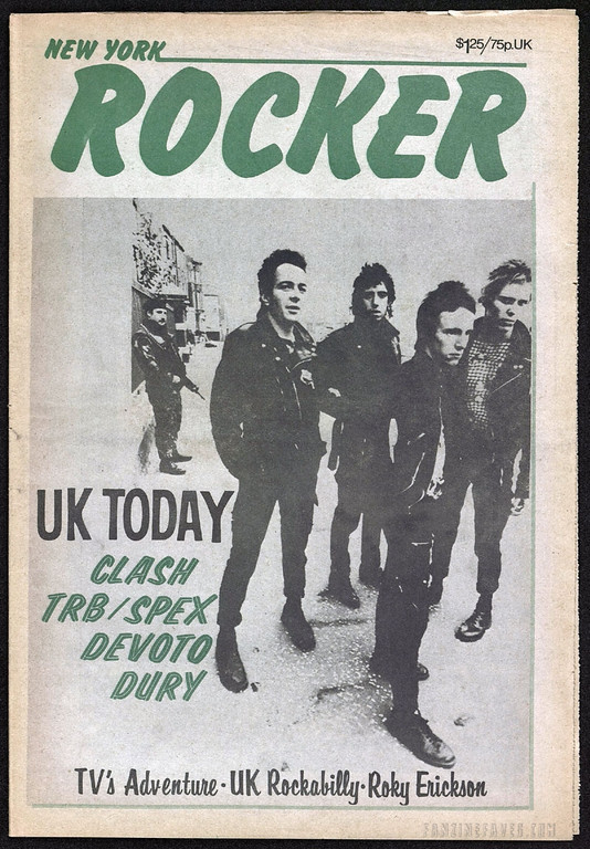 New York Rocker magazine covers The Clash