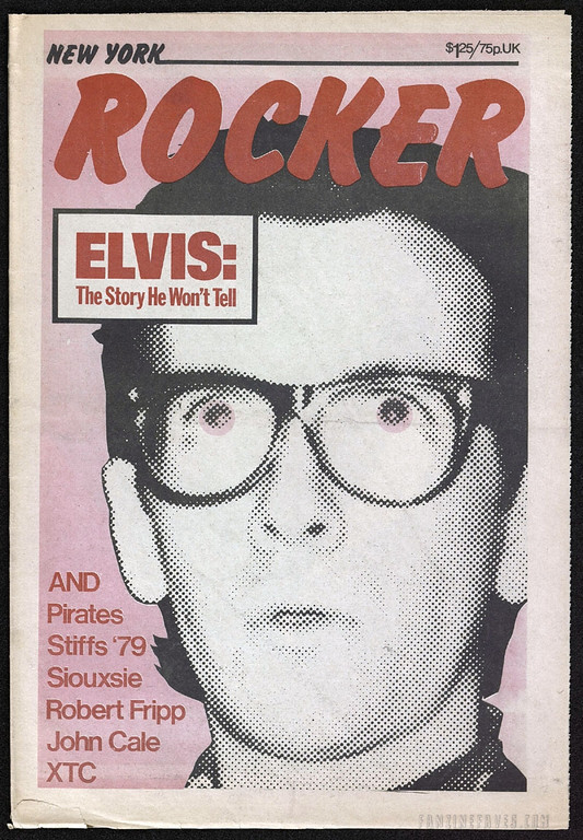 New York Rocker magazine covers Elvis Costello