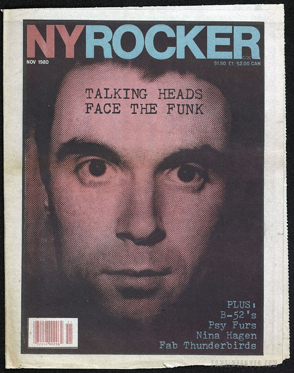 New York Rocker magazine covers Talking Heads