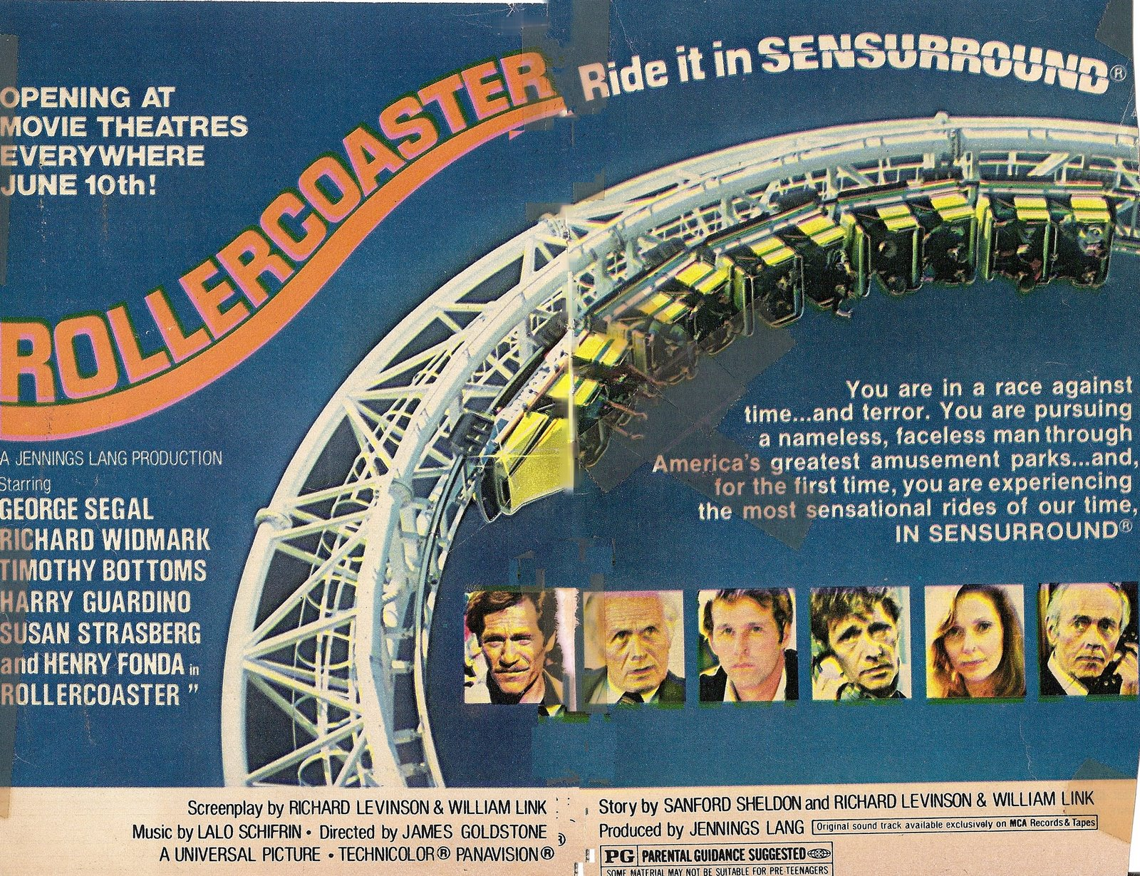 Rollercoaster Sensurround Poster 2 Flashbak