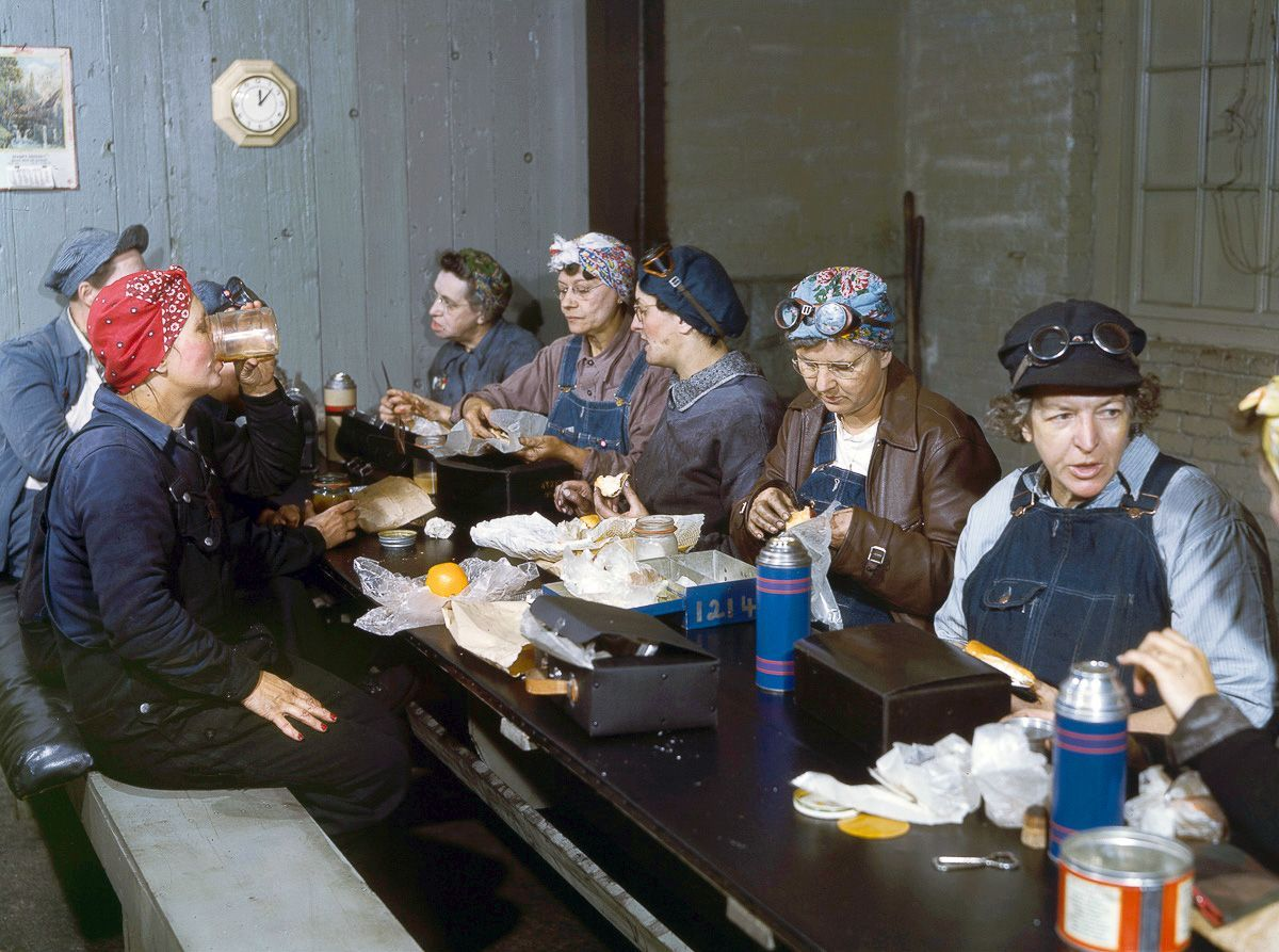 Roundhouse workers on their lunch break.