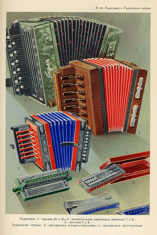 Russian Industry Catalogue Soviet 1960s 1950s goods accordians