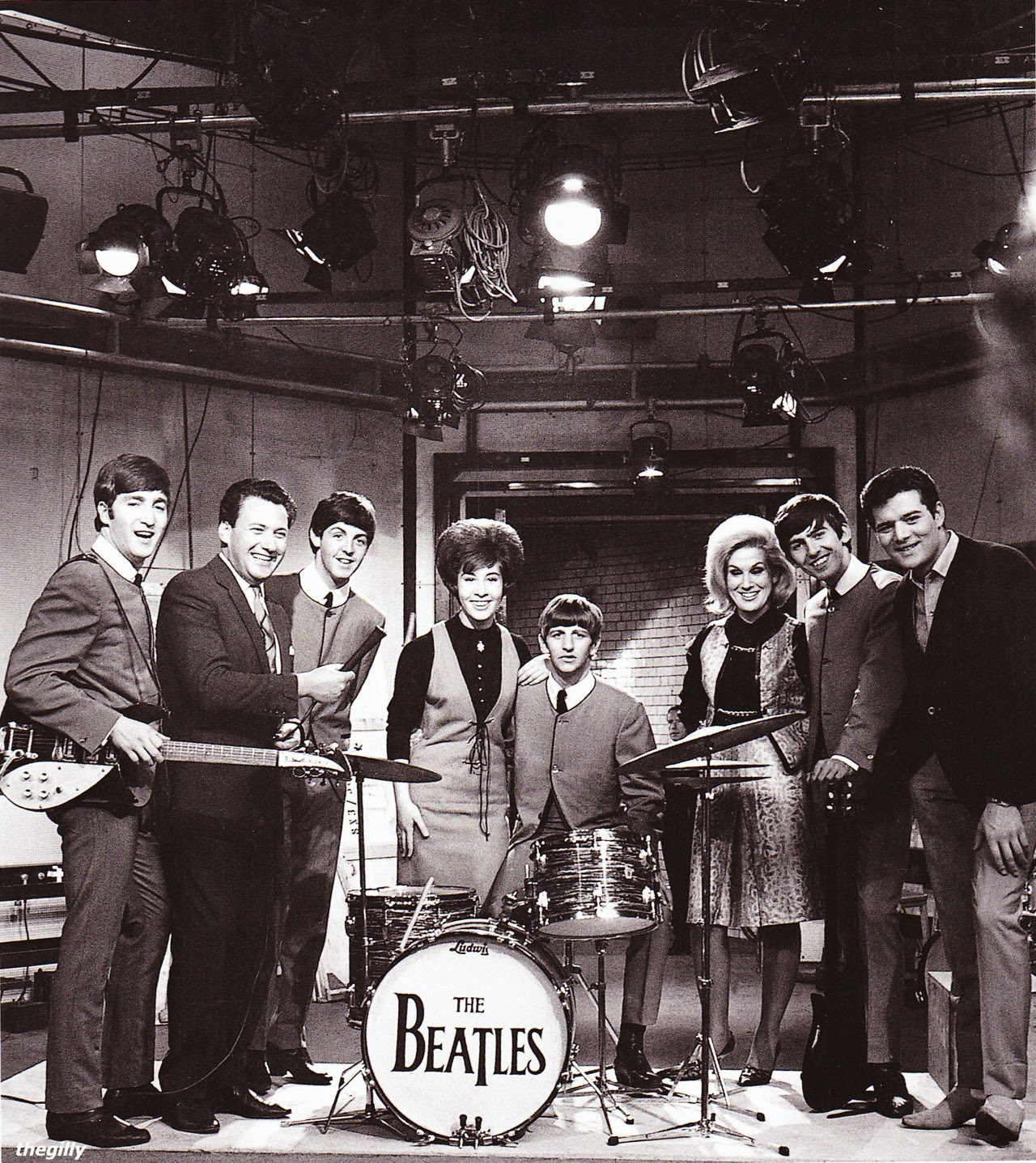 The Beatles, Helen Shapiro, Dusty Springfield, Eden Kane and Keith Fordyce on the set of RSG!