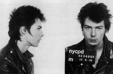 Vicious' mugshot from 9 December 1978