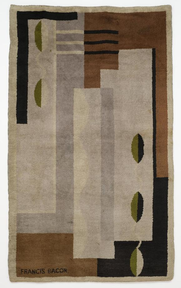 Rug c.1929 by Francis Bacon. 213 x 125 x 1cm.