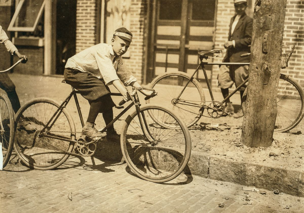 """March 1911 """"Leo Day, Postal Telegraph Messenger, 12 years old, and a very knowing lad. Location: Tampa, Florida."""""""