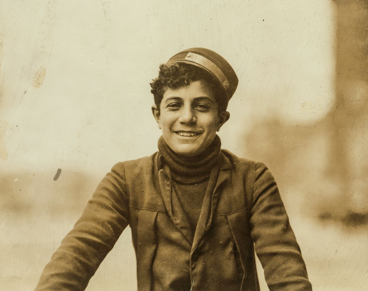 """April 1912 """"Happy but thoughtless. The messenger service is poor training for him. (Works for Dime Messenger Service). Location: Washington, D.C."""""""