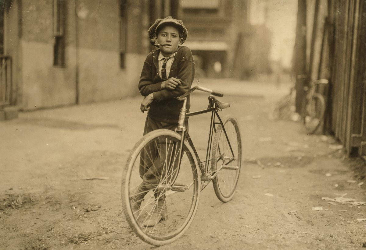 "September 1913 ""Messenger boy working for Mackay Telegraph Company. Said fifteen years old. Exposed to Red Light dangers. Location: Waco, Texas."""