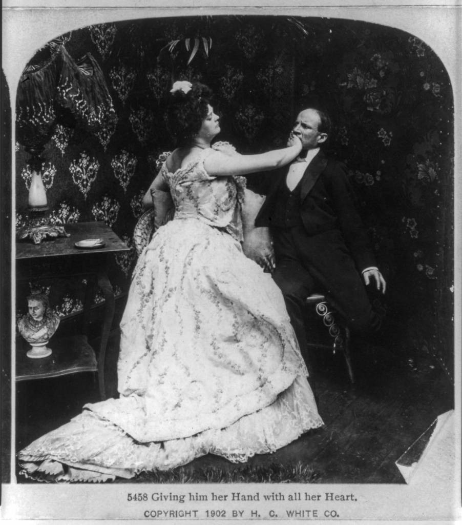 courtship stereo card 1902