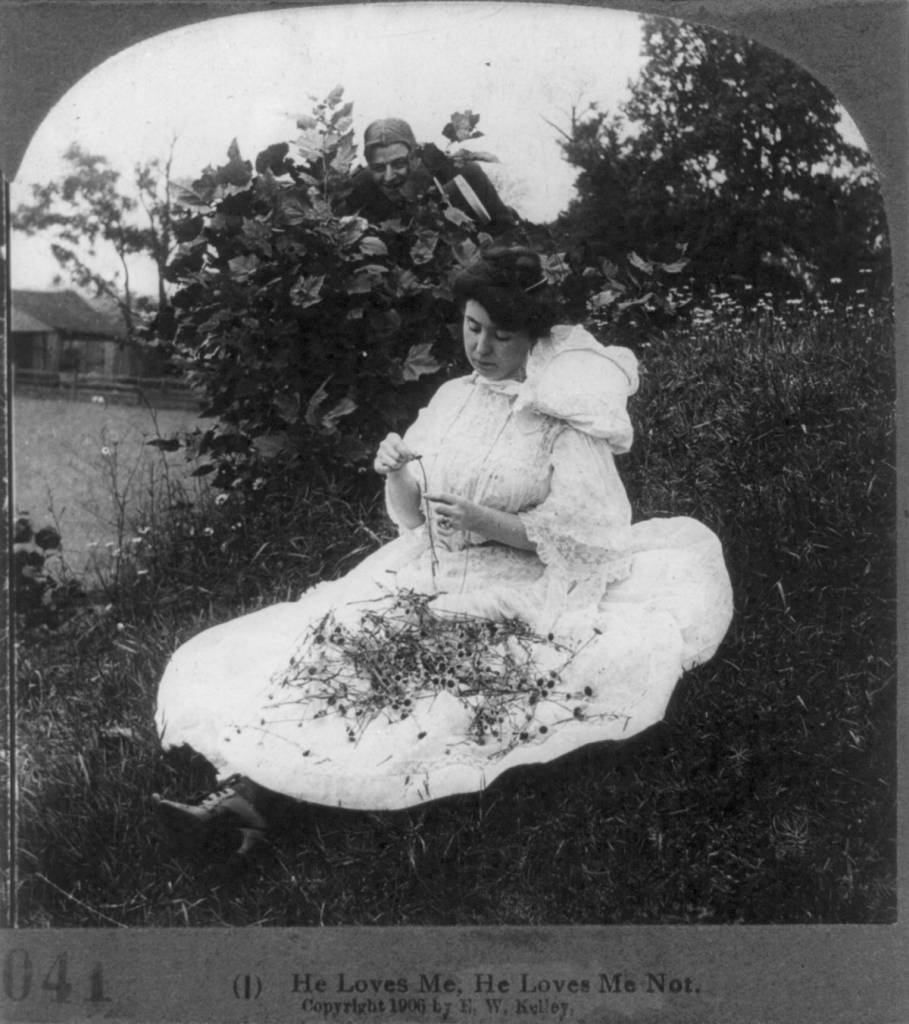 courtship stereo card 1906