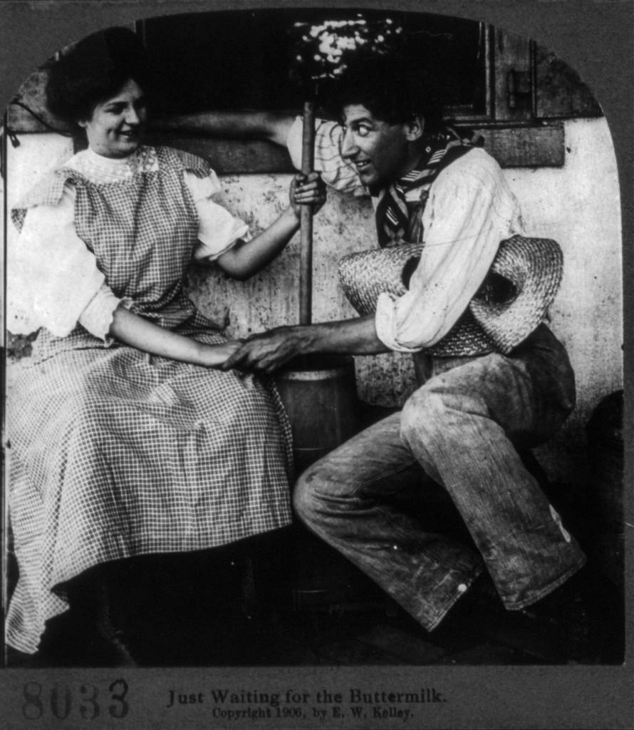 courtship stereo card 1906 romance