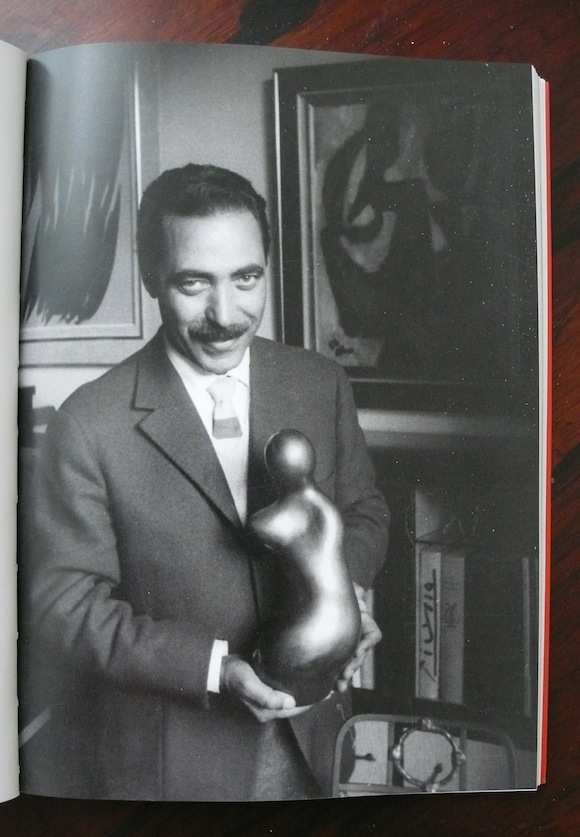 Sapone with a Jean Arp sculpture.Photo: Edward Quinn