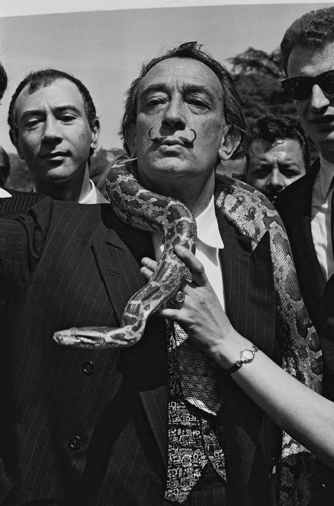 Mandatory Credit: Photo by Sipa Press/REX/Shutterstock (837802a) Salvador Dali with a boa constrictor snake around his neck Salvador Dali, Paris, France - 1965
