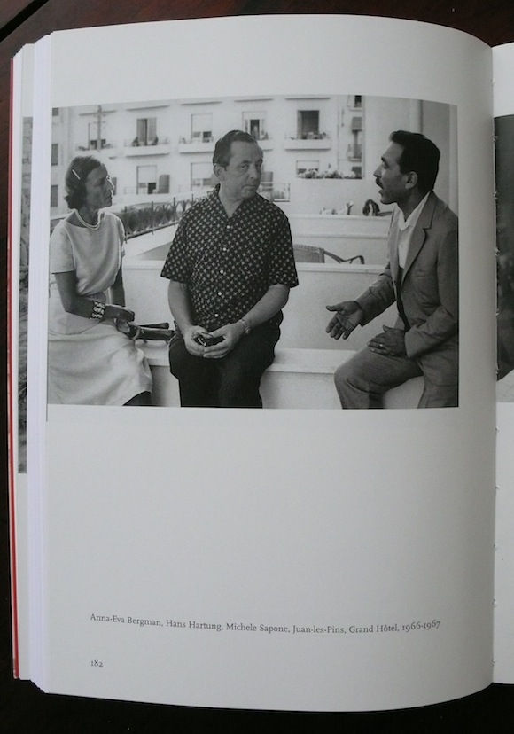 Sapone (right) with the painters Anna-Eva Bergman and Hans Hartung in the Grand Hotel, Juan-le-Pins, mid-60