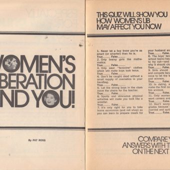A 1972 Quiz on Women's Lib: Young Miss Magazine