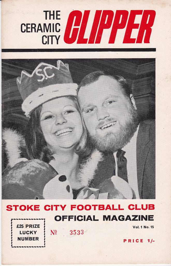 Stoke City vs Tottenham Hotspur - 1969 - Cover Page We're off to Stoke as Miss Stoke City gets a coronation and Spurs visit town