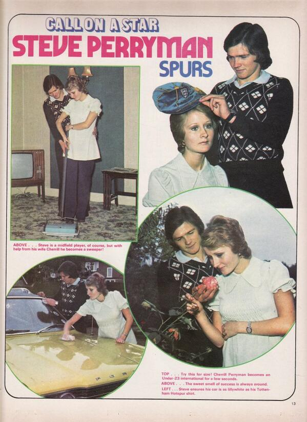 Steve Perryman - Shoot! Feature The immortal picture at home with Mr and Mrs Perryman