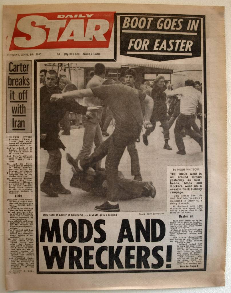 Bank Holiday fighting, April 1980 MODS AND WRECKERS!