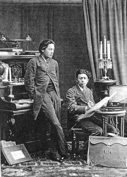 Young Chekhov (left) with brother Nikolai in 1882