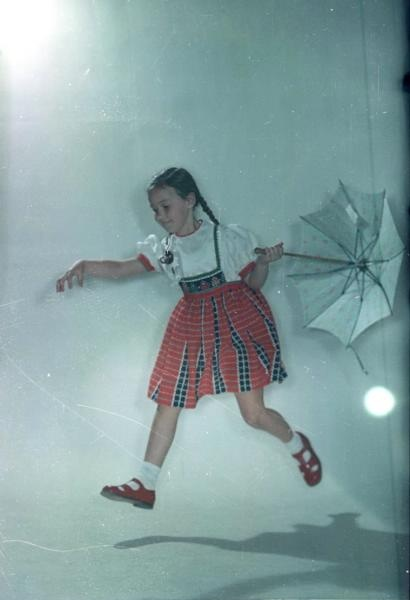 "Vsevolod Tarasevich Girl with umbrella Date: 1958 From the series ""Children's World."""