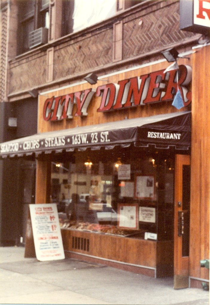 A diner in Chelsea in the early 1980s. I think the Malibu Diner is now located here.   City Diner 163 W 23rd St New York NY10011