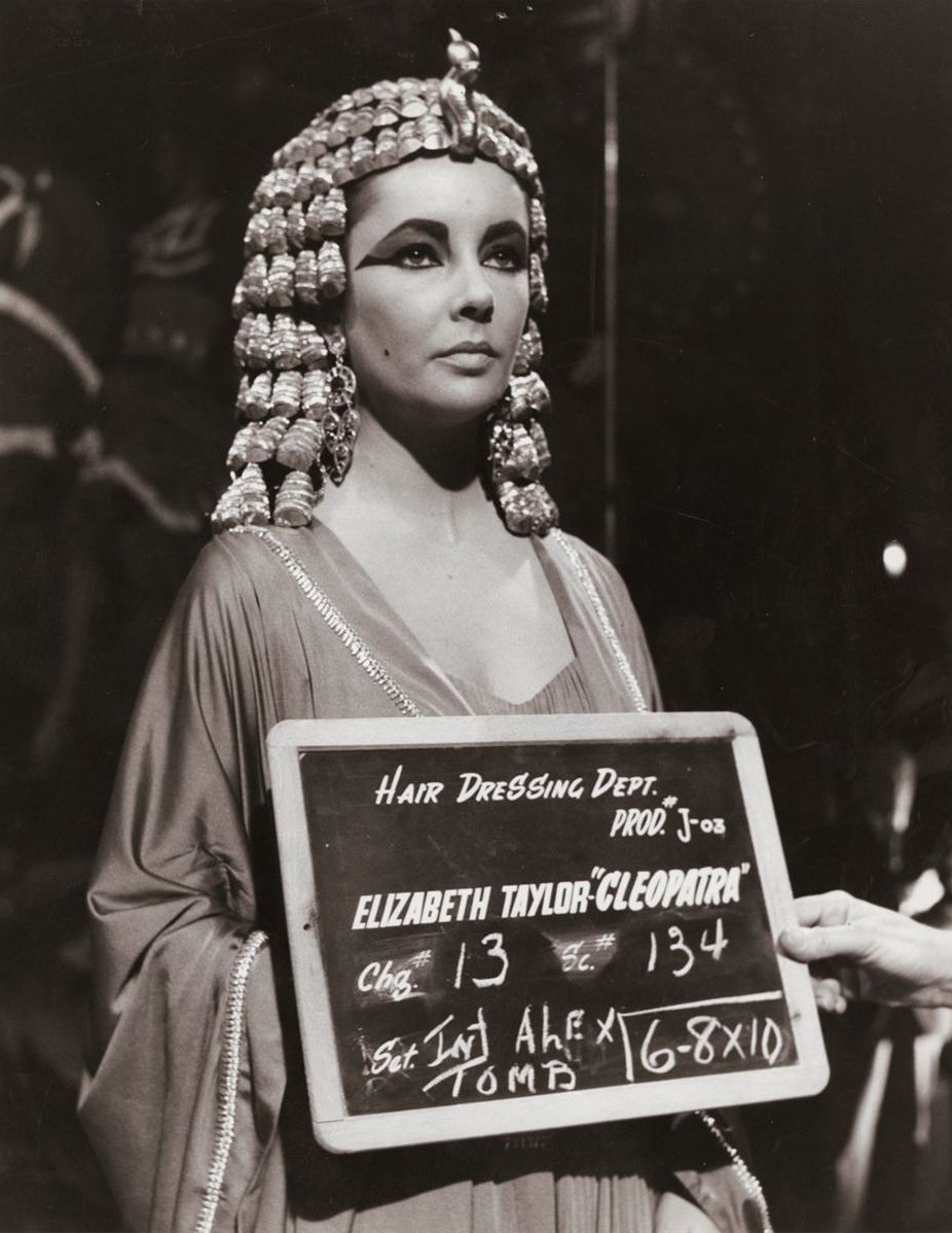 Elizabeth Taylor Cleopatra Hair Dressing Department Photographs