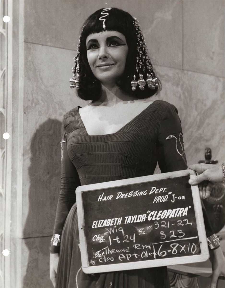 Elizabeth Taylor Cleopatra Hair Dressing Department Photographs 1963 Flashbak