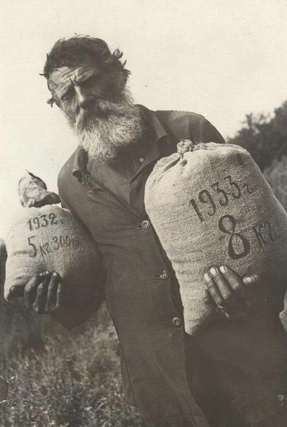 "Collective farmer farm ""Red"" received them with a grain per workday Date: 1933"