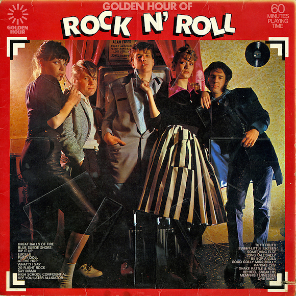 Front cover, The Golden Hour Of Rock N Roll, Various Artists, Pye:Golden Hour, 1973