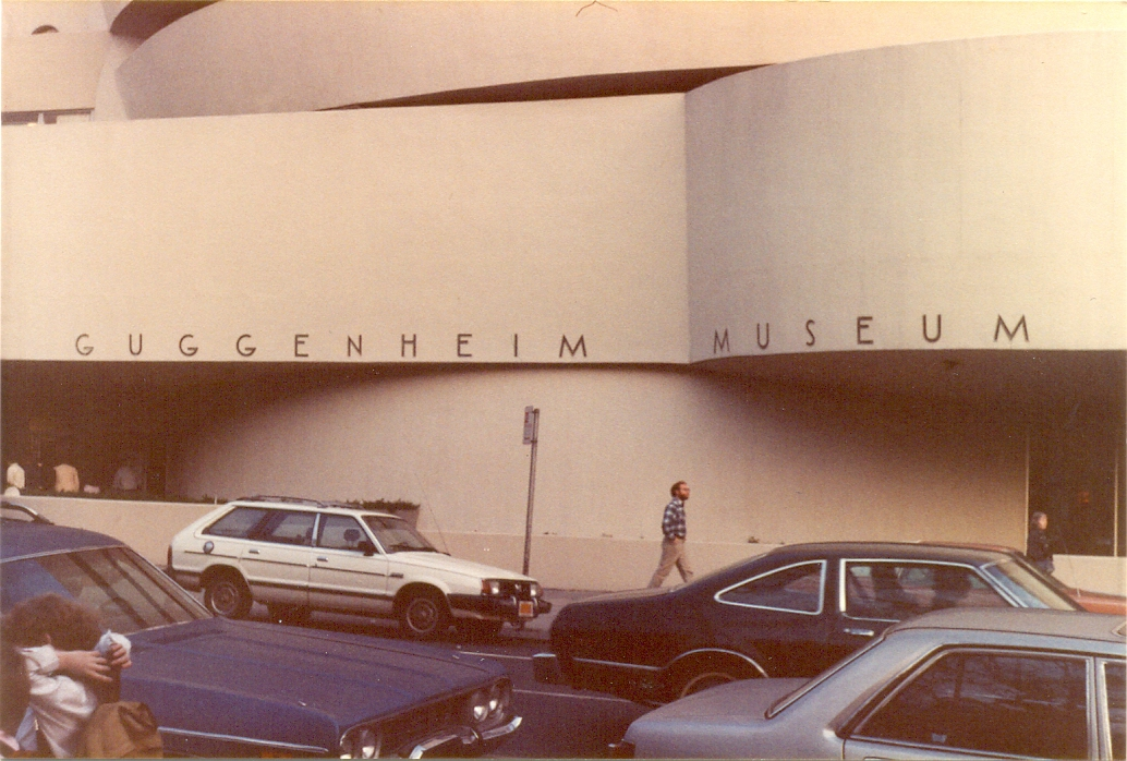 The Solomon R. Guggenheim Museum in New York City, November 1982. I went to as many art galleries and museums as I could when I first visited New York.   Solomon R. Guggenheim Museum 1071 5th Avenue (at 89th Street) New York NY 10128