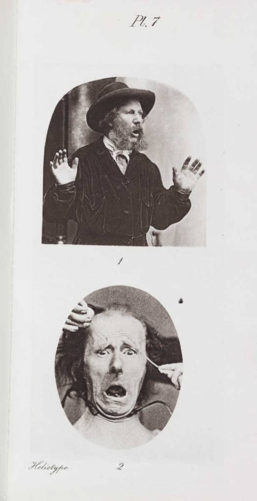 'Fear' from 'The Expression of Emotions in Man and Animals' London 1872. Charles Darwin (1809-1882)