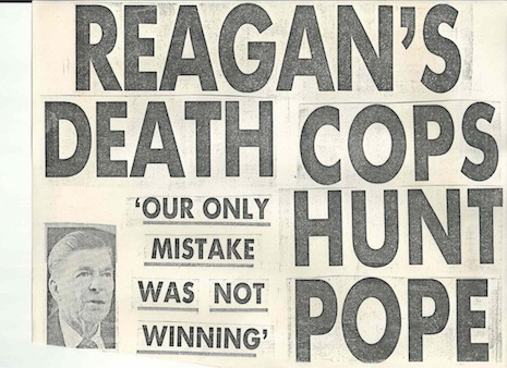 Keith Haring Reagan Pope NY Post covers Madonna