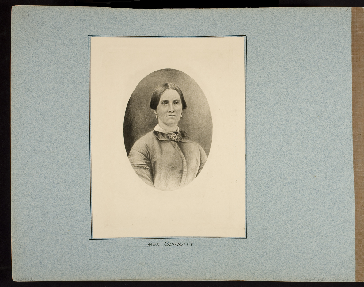 Mrs. Surratt (Photographic copy of drawing)