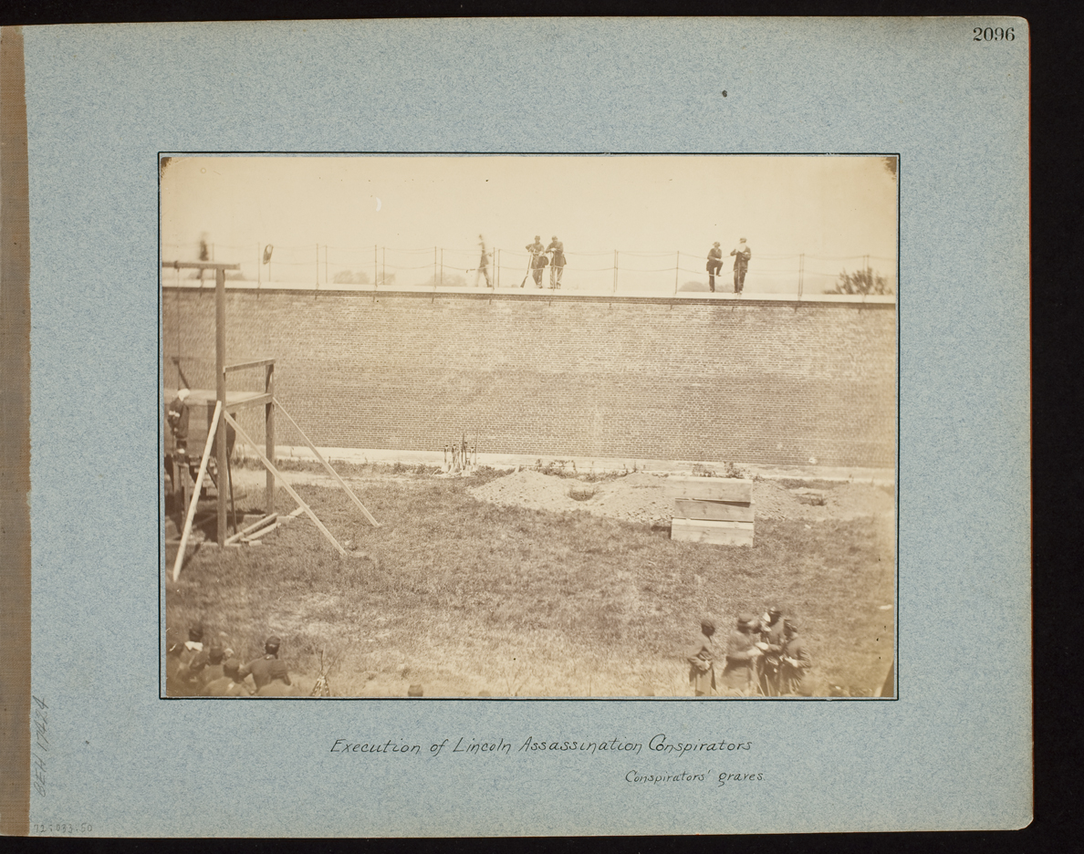 Execution of Lincoln Assassination Conspirators, Conspirator's graves.