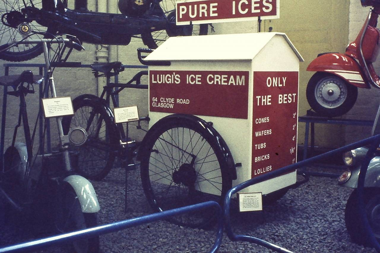 Luigi's Ice cream Glasgow Transport museum