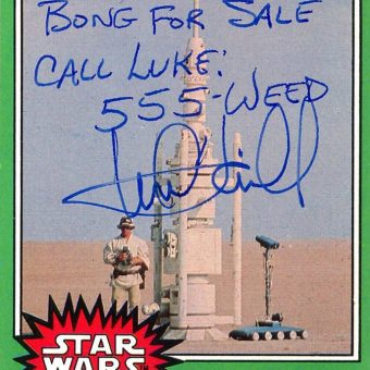 Star Wars: Mark Hamill has fun with a fans'  Star Wars trading cards