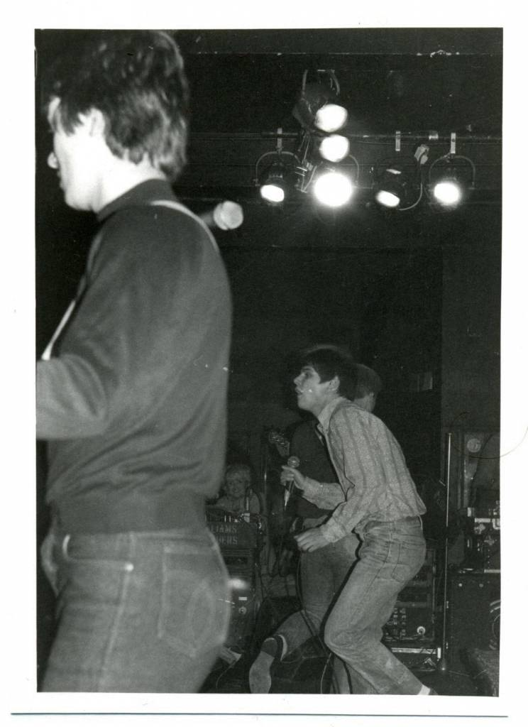 Mod revivalists band the Purple Hearts at the Marquee Club, London 1980