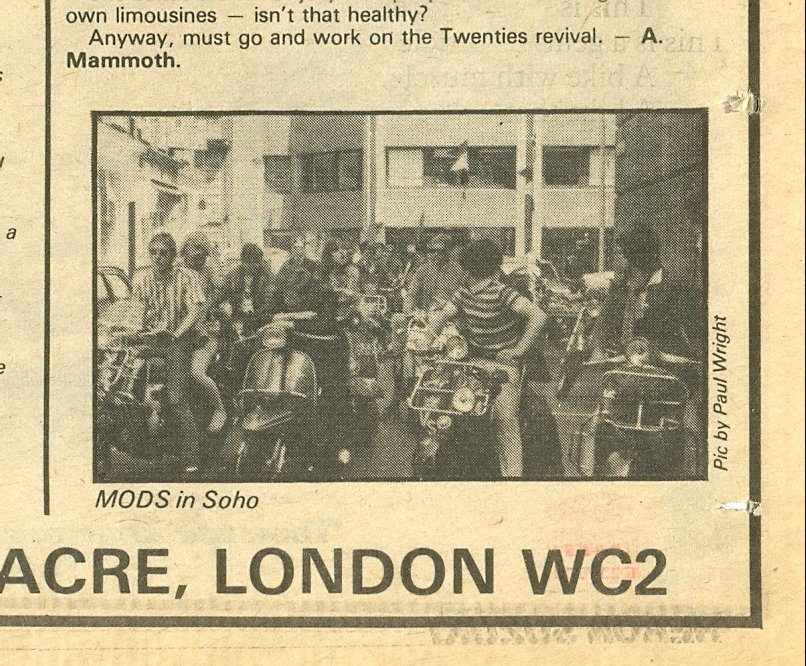 Mods, Sounds music paper, 15 September 1979