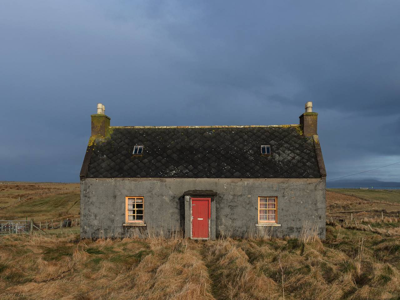 NOBODY'S HOME The symmetry of this house on the Isle of Lewis reminds me of the houses I used to paint and draw at primary school.
