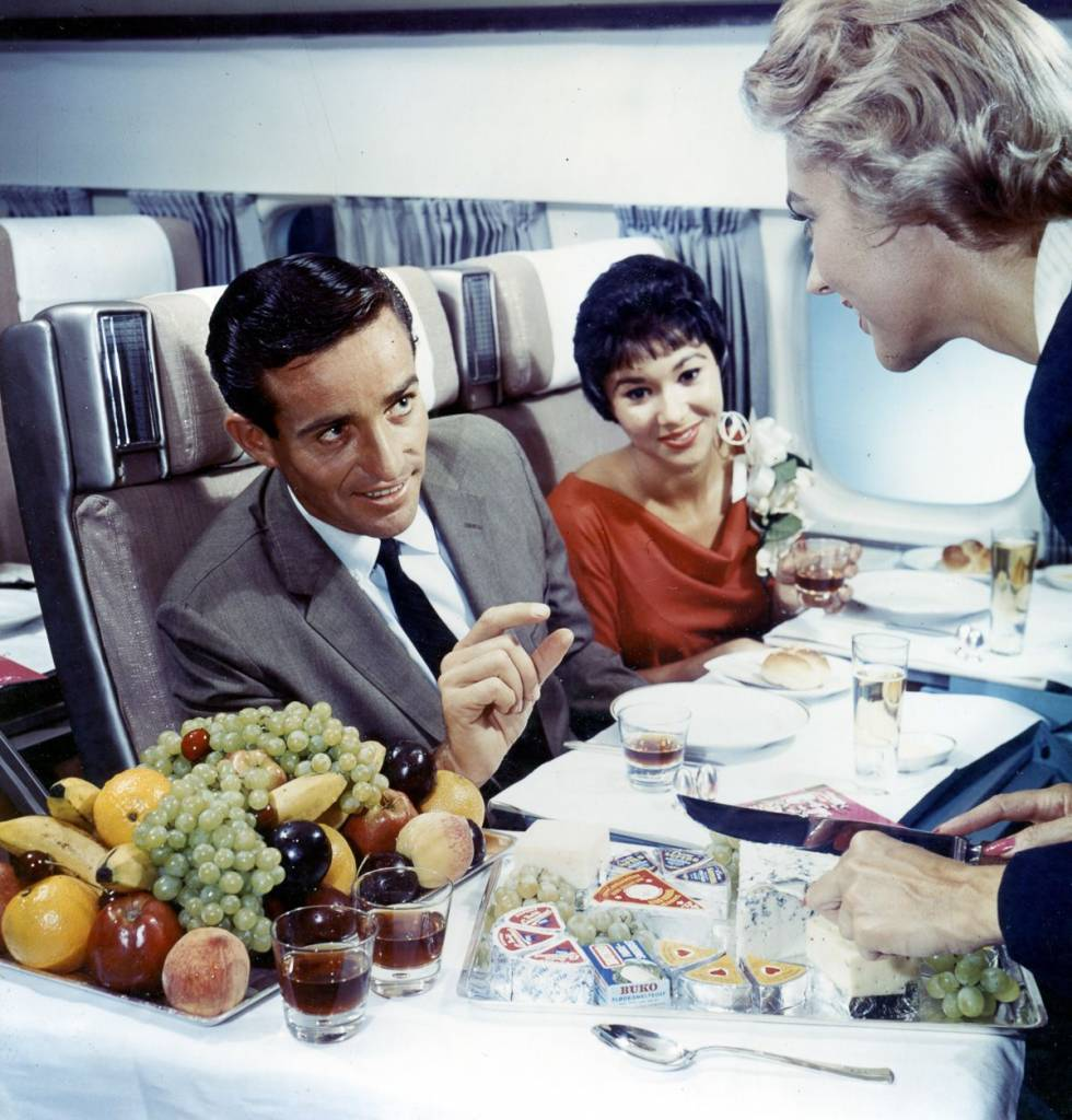 Scandinavian Airlines 1955 cheese board